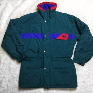 HP🎉 Vintage 90s CB Sports Fitted Winter Ski Coat
